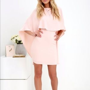 Lulu's Best Is Yet To Come backless cape dress